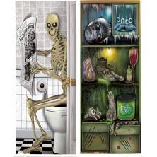 Dekorace na dveře sort. - halloween 1 ks