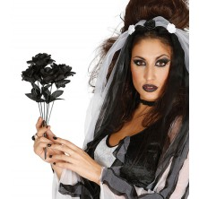 Kytice černých růží