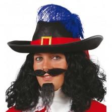 Mušketýrský klobouk pro dospělé - černý
