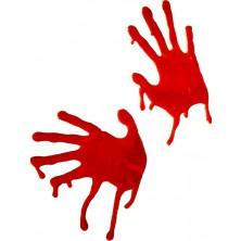 Dekorace krvavé ruce