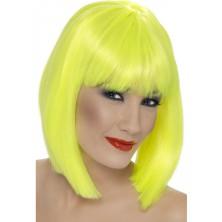 Paruka glam - neonově žlutá