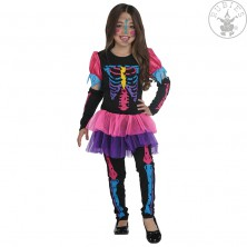Neonový skelet - kostým