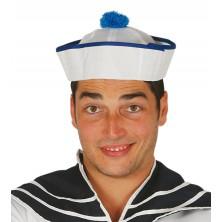 Námořnická čepička modrá s pomponem